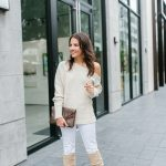 Ivory One Shoulder Sweater