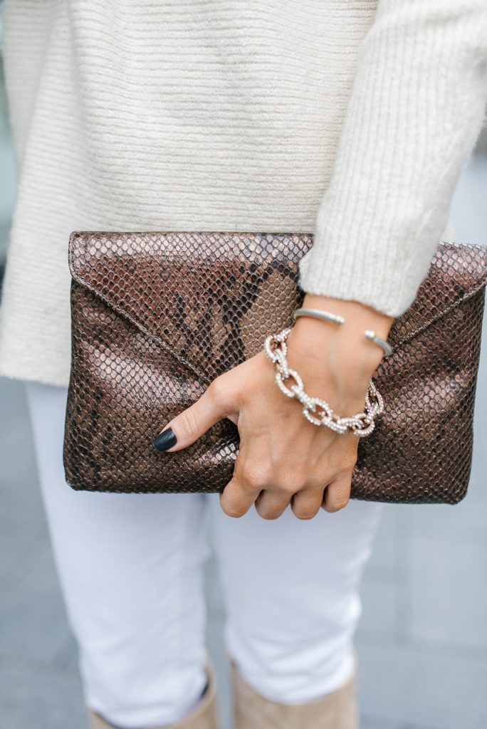 winter outfit | pave links bracelet | david yurman classic cuff | Houston Fashion Blogger Lady in Violet
