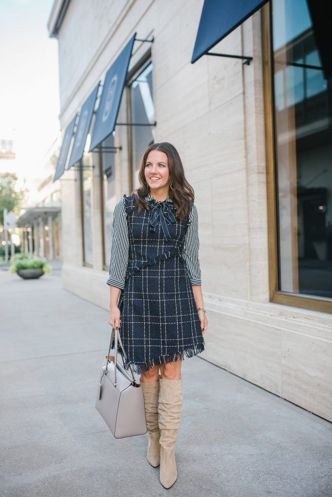 fall outfit | tweed dress | workwear | Houston Fashion Blogger Lady in Violet