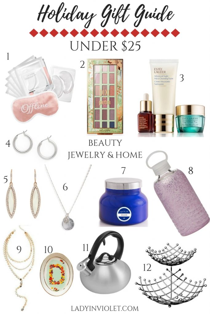 Holiday Gift Ideas under 25 | christmas gift guide | Houston Blogger Lady in Violet