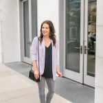 Light Purple Blazer + Gray Denim