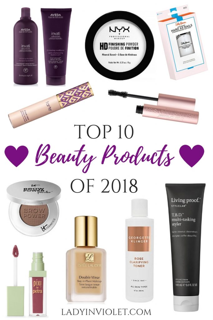 best beauty products of 2018 | Houston Blogger Lady in Violet