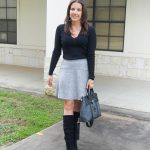 A Year Round Must For Work: The Gray Flippy Skirt