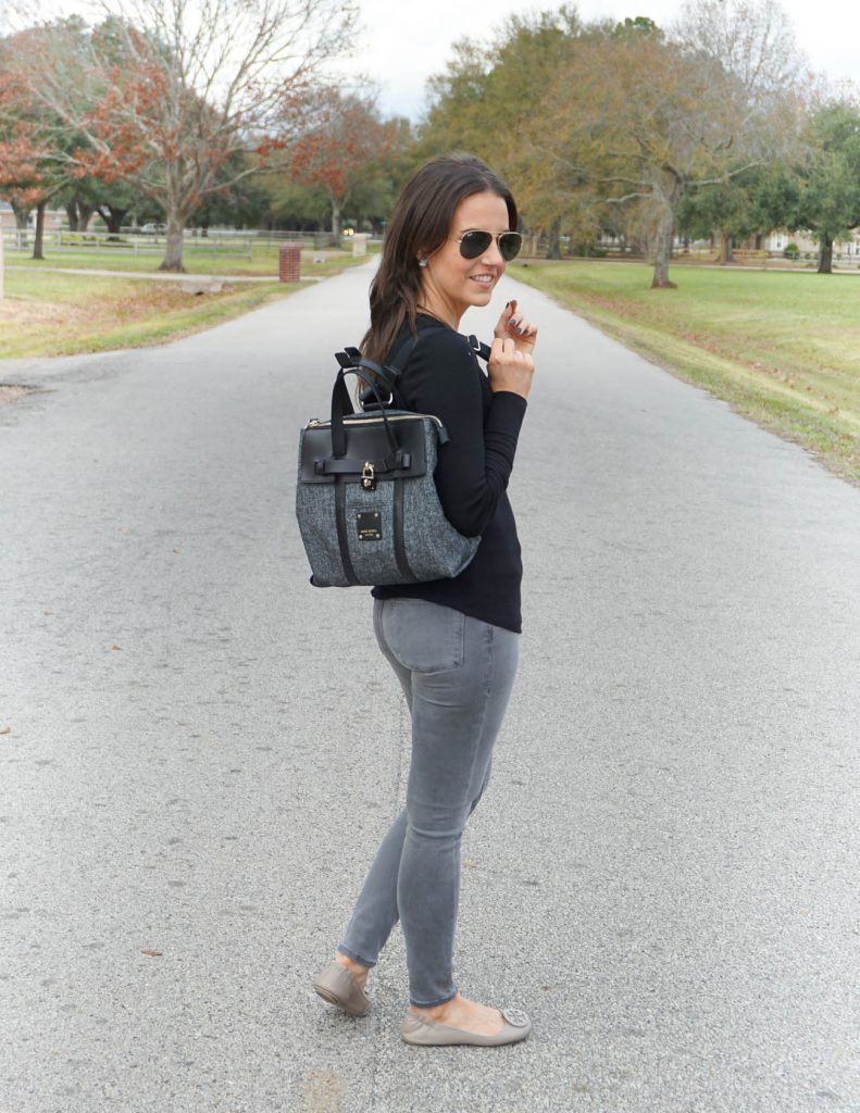 Winter outfit | henri bendel mini jetsetter | tory burch flats | Houston Fashion Blogger Lady in Violet