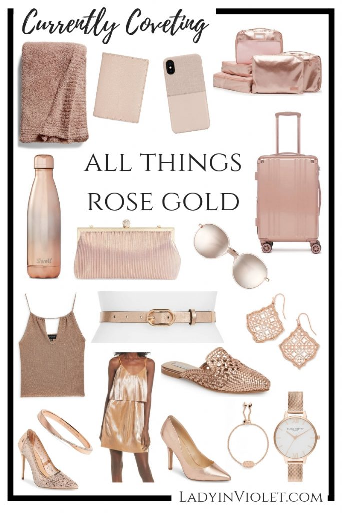currenty coveting rose gold jewelry clothes home decor