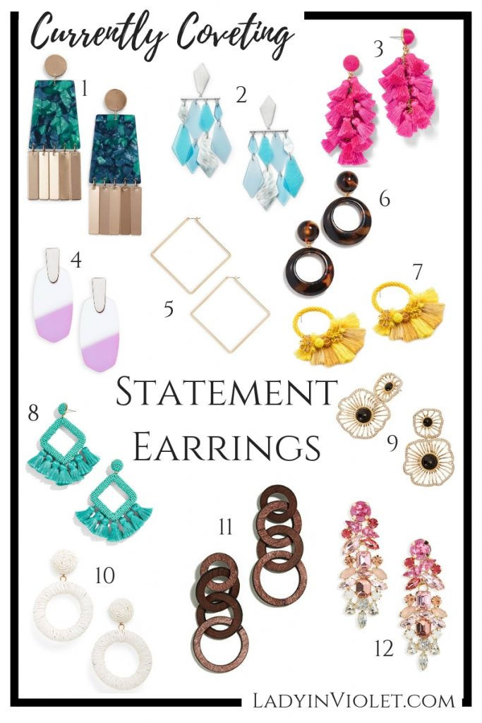 spring statement earrings | colorful jewelry | Houston Fashion Blogger Lady in Violet