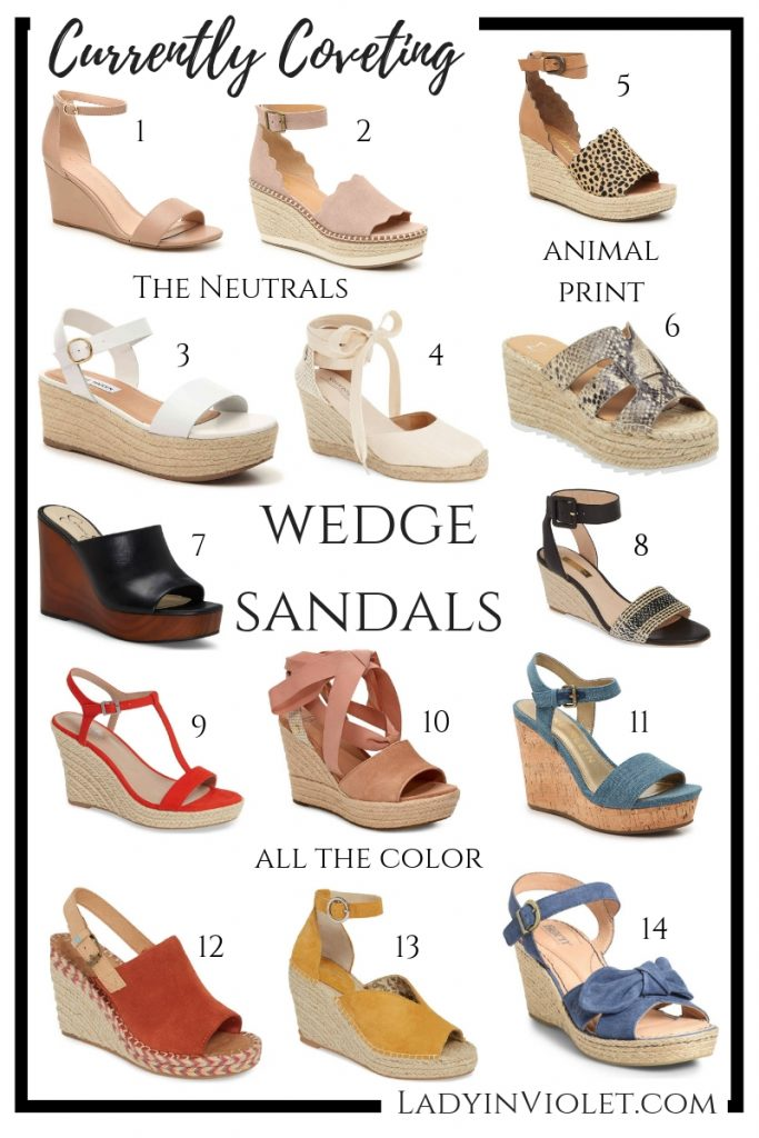 Wedge Sandals | Summer Shoes | Houston Fashion Blogger Lady in Violet