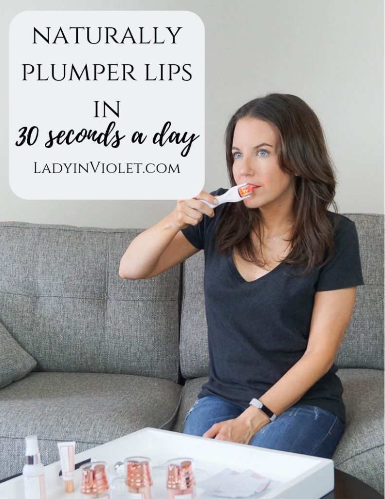 naturally plumper lips in 30 seconds | GloPro lip microneedler review | Houston Blogger Lady in Violet