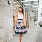 Floral Midi Skirt for the First Day of Spring