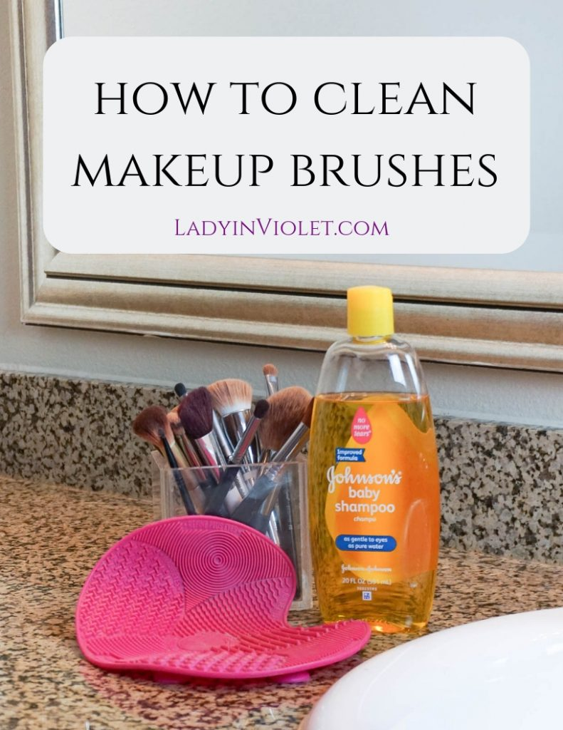 How to Clean Makeup Brushes | Texas Beauty Blogger Lady in Violet