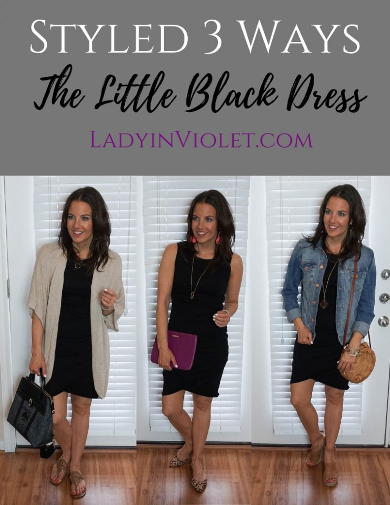 Styling a black dress mutliple ways | Houston Fashion Blogger Lady in Violet