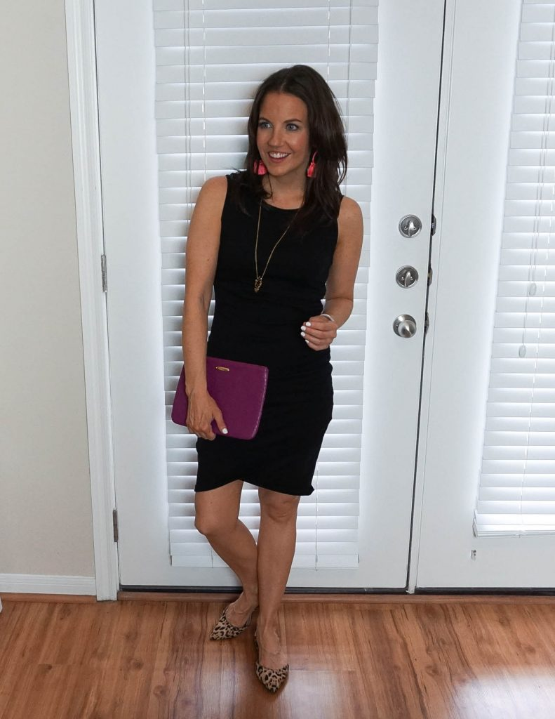 date night outfit | little black dress | leopard flats | Houston Fashion Blogger Lady in Violet