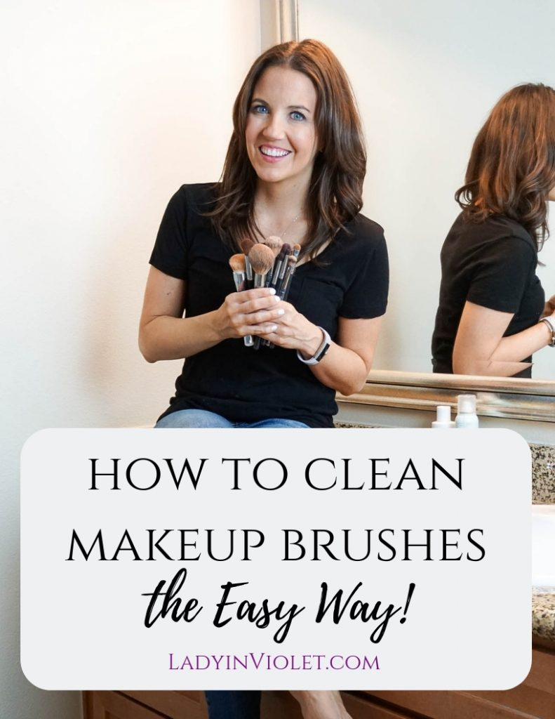 easy way to clean makeup brushes | Houston Beauty Blogger Lady in Violet