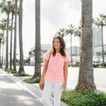 Summer Vacation Outfit with White Jeans