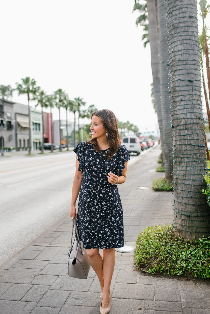 summer workwear | wrinkle free dress for the office | Petite Fashion Blogger Lady in Violet