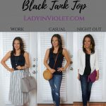 Styled 3 Ways: Black Tank Top