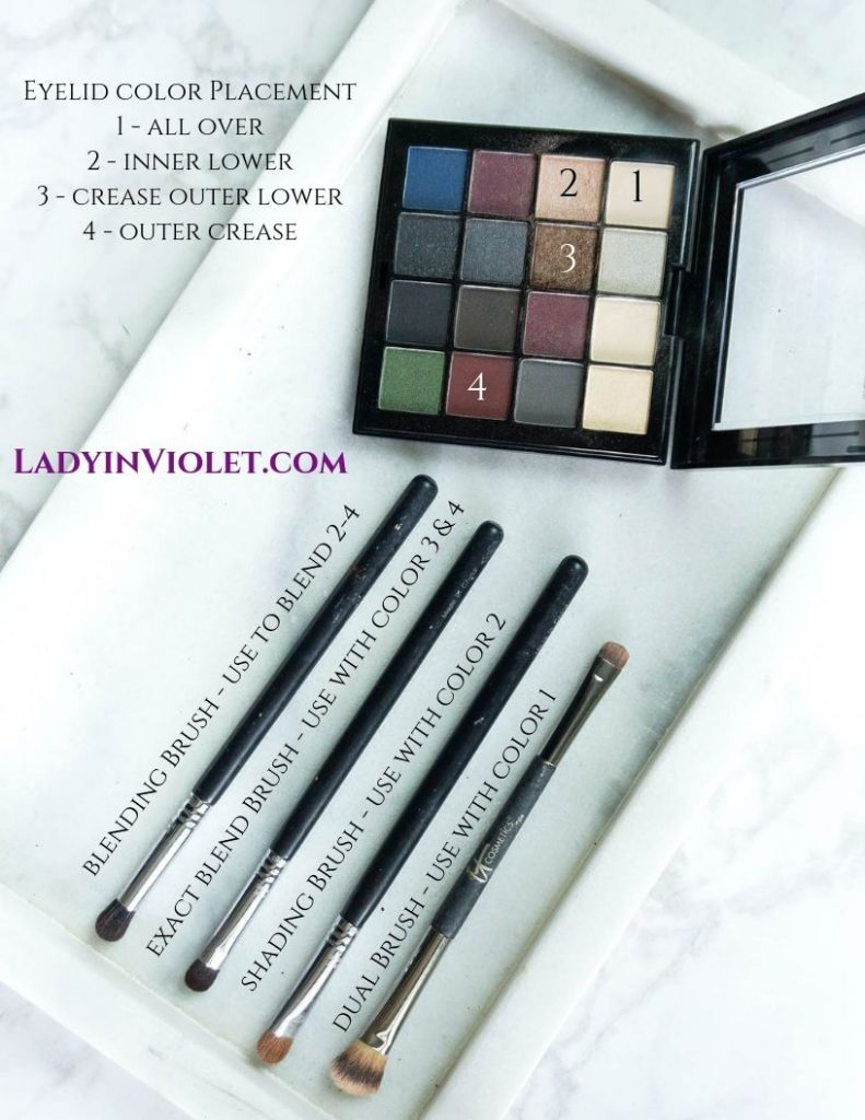 easy eye makeup tutorial with nyx eyeshadow palette   Houston Beauty Blogger Lady in Violet