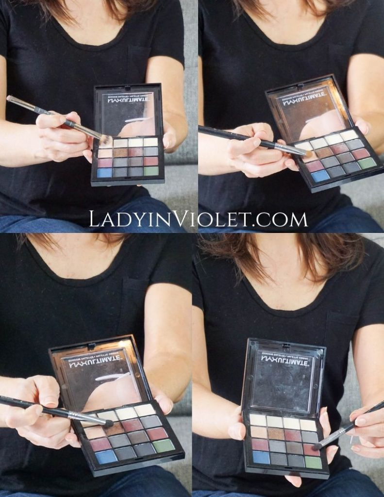 easy eye makeup tutorial with drugstore eyeshadow palette   Houston Beauty Blogger Lady in Violet