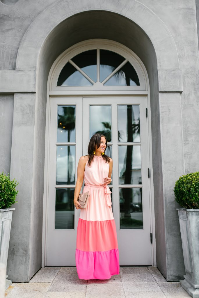 summer maxi dress | wedding outfit | petite fashion | Houston fashion blogger Lady in Violet