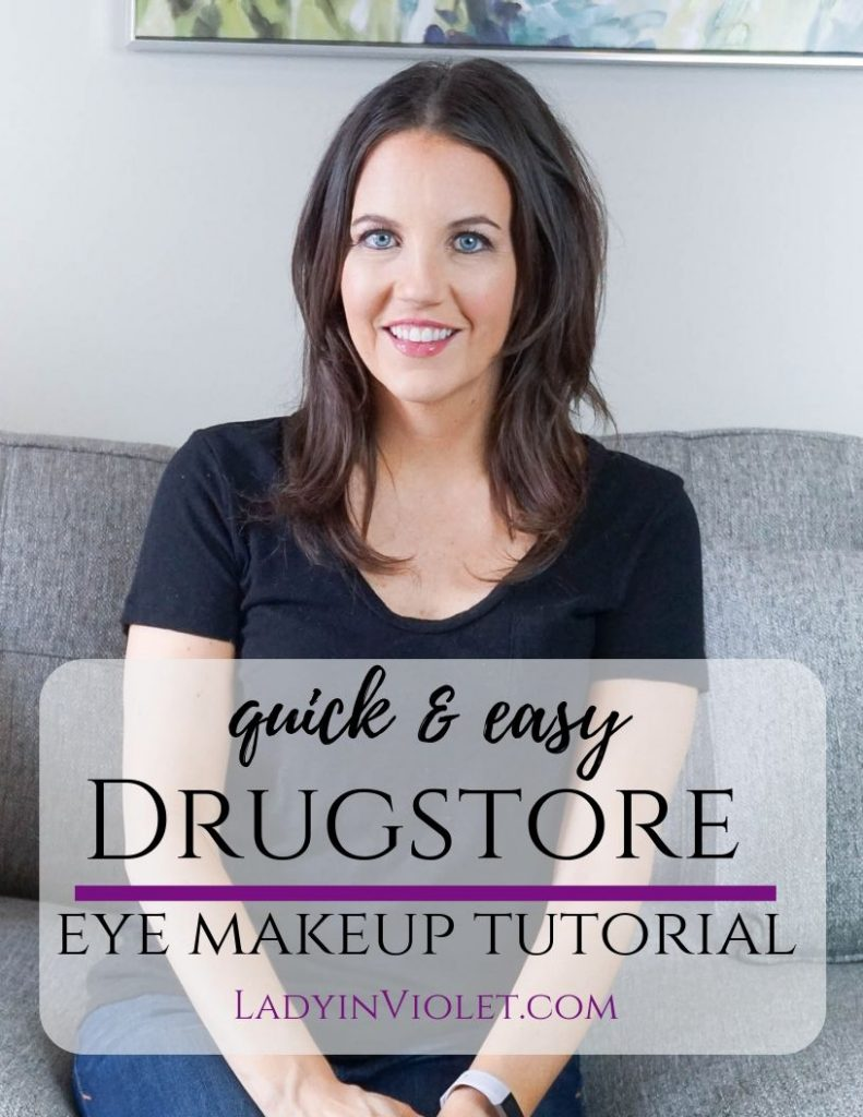 easy drugstore eye makeup tutorial with step by step directions | Houston Beauty Blogger Lady in Violet
