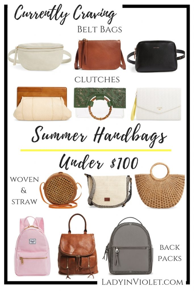 summer handbags under $100 | popular fashion blogger Lady in Violet