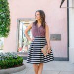 Workwear: Striped A-Line Skirt