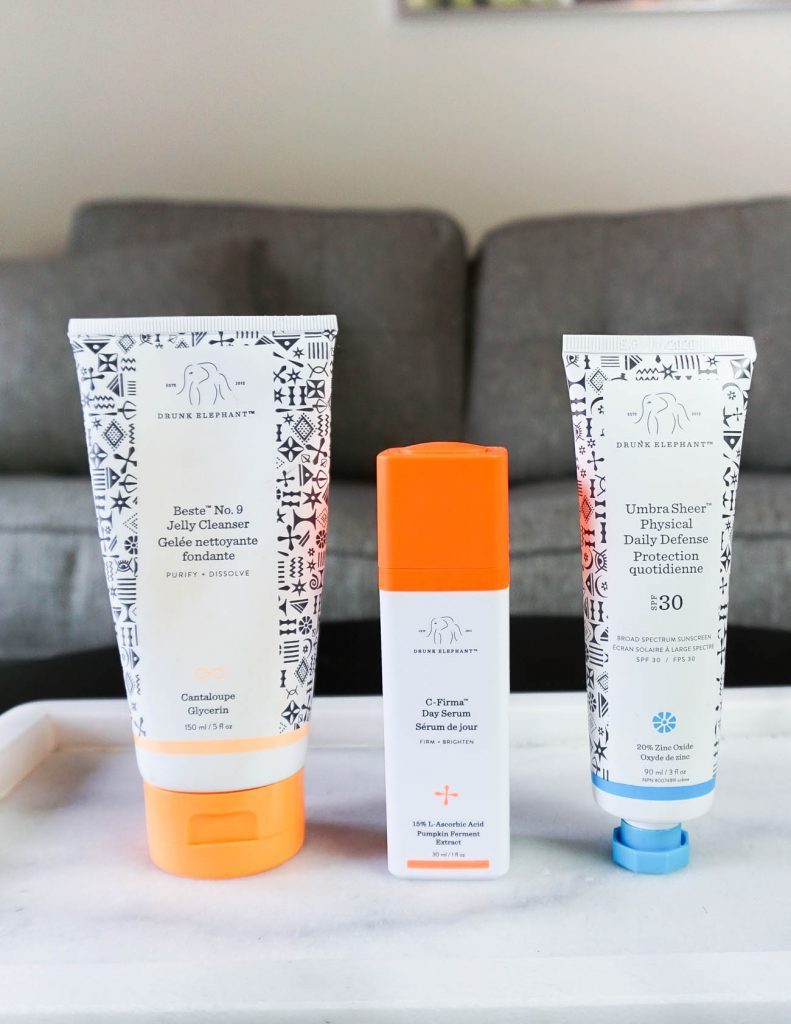 morning skincare routine with clean beauty products from drunk elephant   Houston Beauty Blogger Lady in Violet