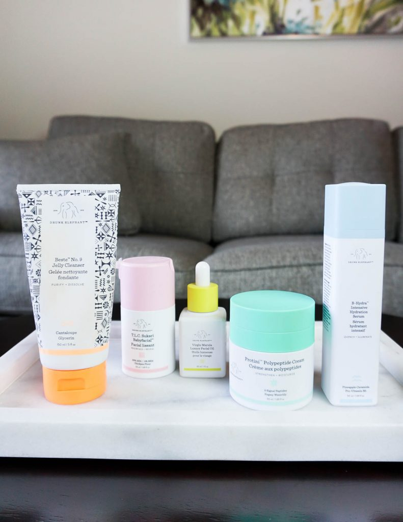night time skincare routine with clean beauty products from drunk elephant | Texas Beauty Blogger Lady in Violet