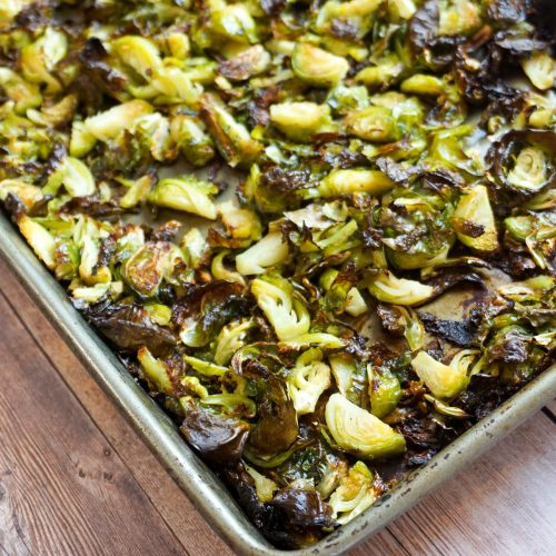 how to bake brussels sprouts in the oven | LadyinViolet.com