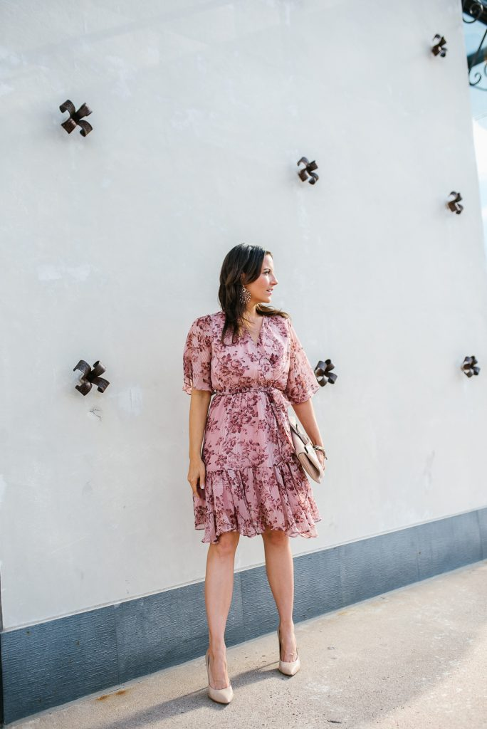 summer workwear | pink dress | petite fashion blogger Lady in Violet