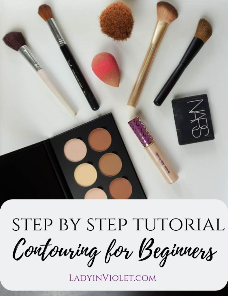Step by step tutorial for contouring for beginners | Texas Beauty Blogger Lady in Violet