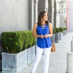 Blue V-Neck Tank Top