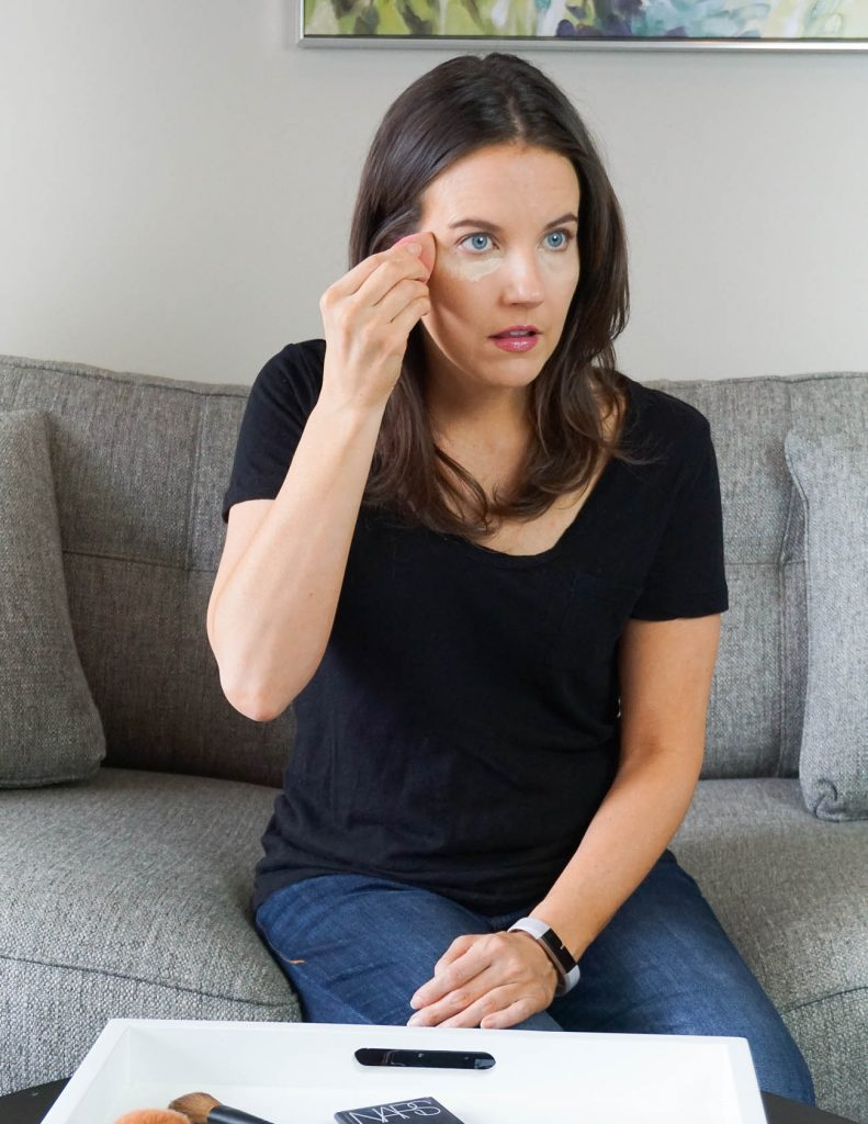 how to use a beauty blender to apply concealer | Beauty Blog Lady in Violet
