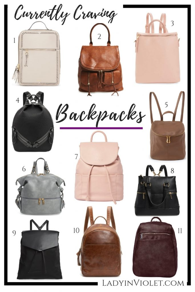 currently craving backpacks | Houston Fashion Blogger Lady in Violet