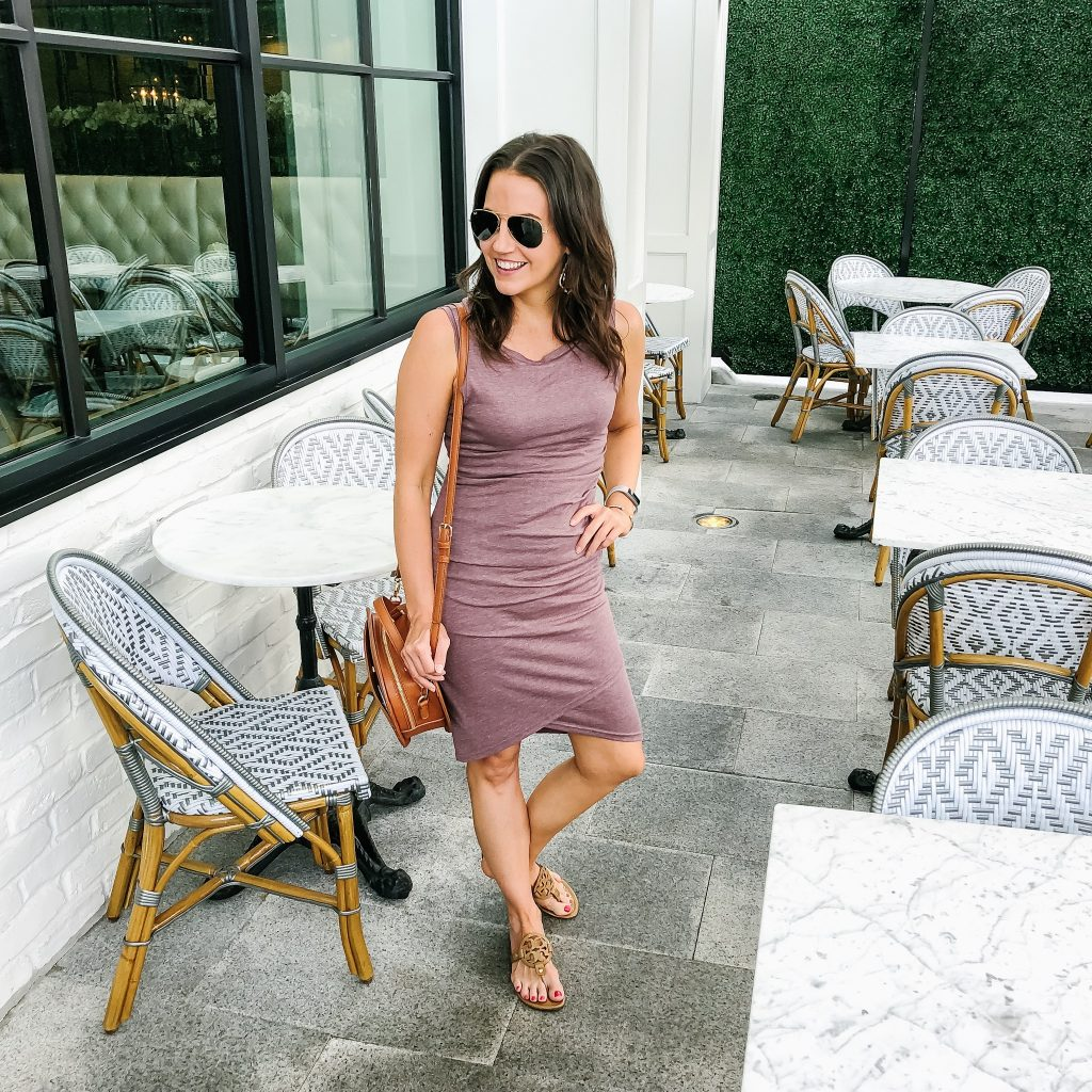 summer outfit | rose pink fitted dress | brunch look | Budget Friendly Fashion Blog Lady in Violet
