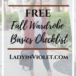 FREE Fall Wardrobe Basics Checklist Download