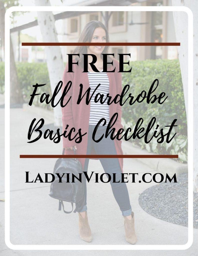 Fall Closet Basics Checklist   Capsual Wardrobe   Lady in Violet
