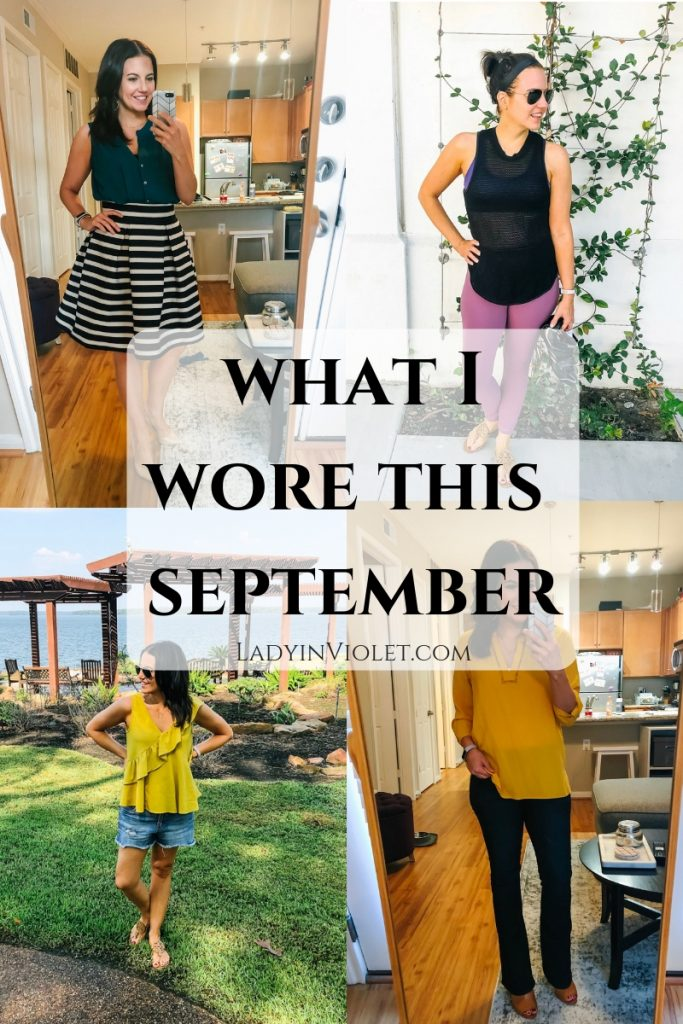 What I Wore This September | Fall and Summer Outfits | Popular Fashion Blog Lady in Violet