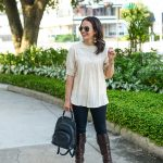 Ivory Smock Top with Boots
