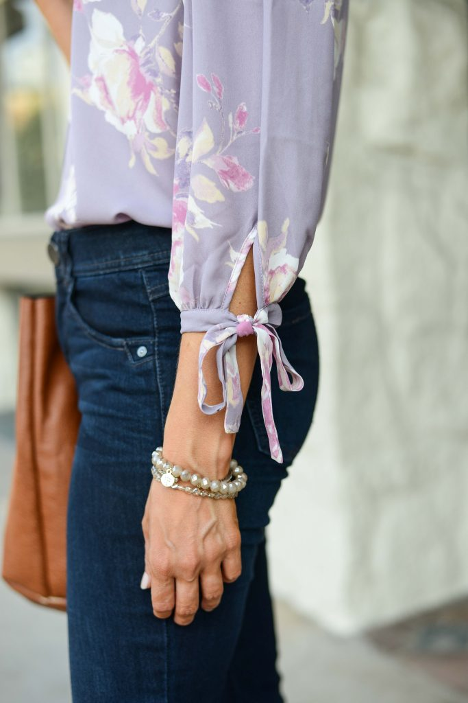 how to wear pastels in fall | bead bracelets | Texas Fashion Blogger Lady in Violet