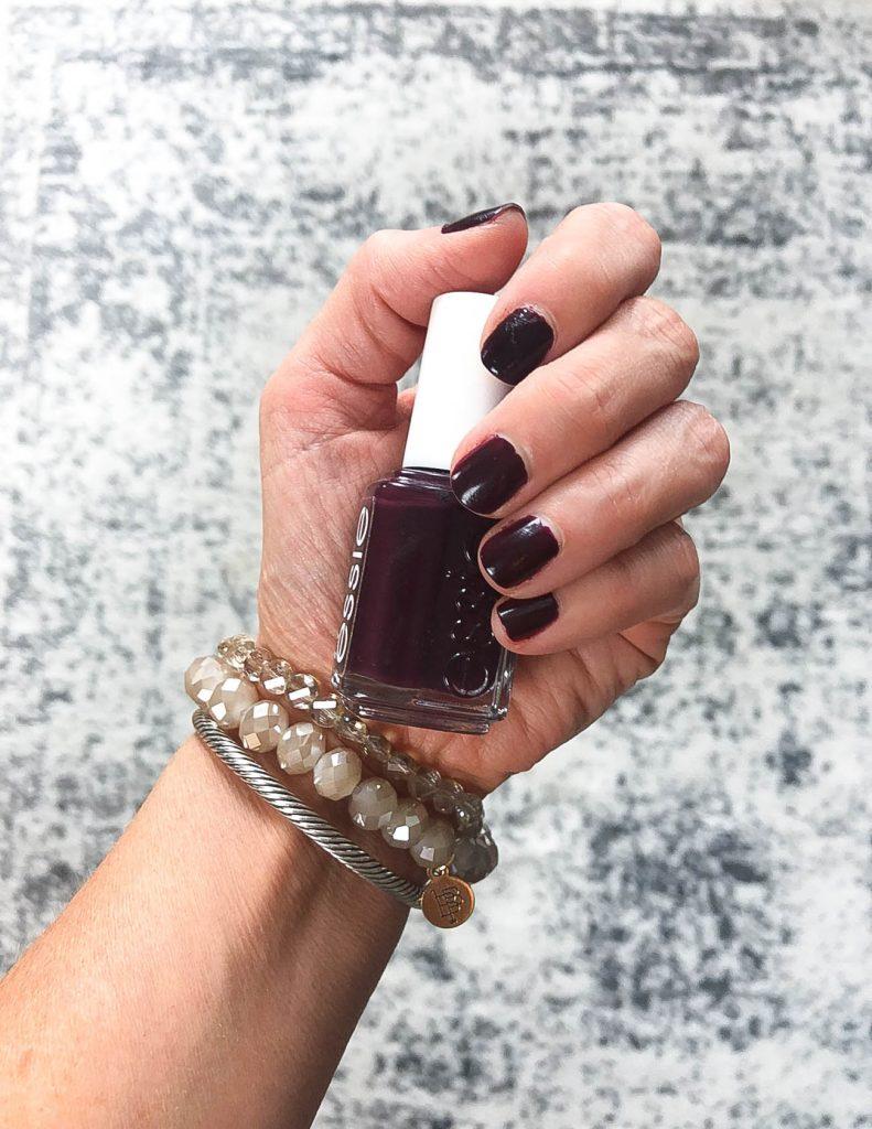 burgundy nail polish | fall nail colors | essie nail polish | Popular Beauty Blogger Lady in Violet
