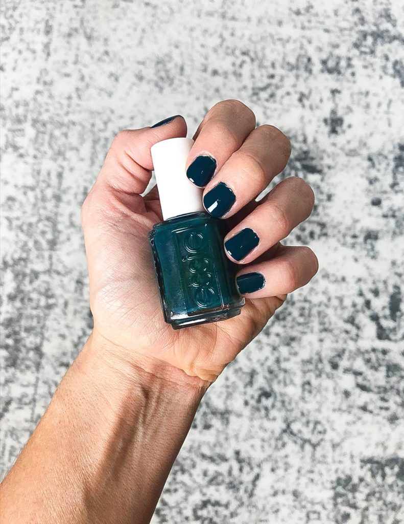 dark teal nail polish | top nail colors to try this season | essie nail polish | Favorite Beauty Blog Lady in Violet