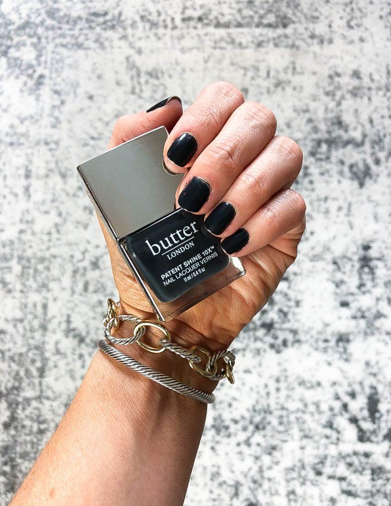 dark charcoal gray nail polish | most popular dark nail colors | butter london nail polish | Top Beauty Blog Lady in Violet