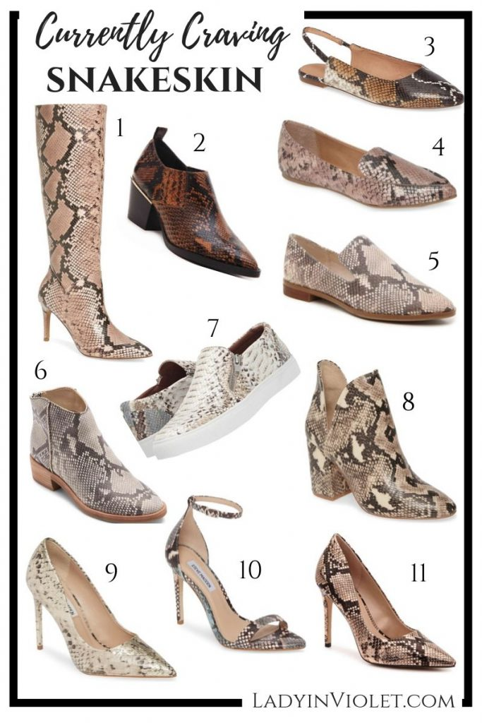 fall fashion trend snakeskin print shoes | Houston Fashion Blogger Lady in Violet
