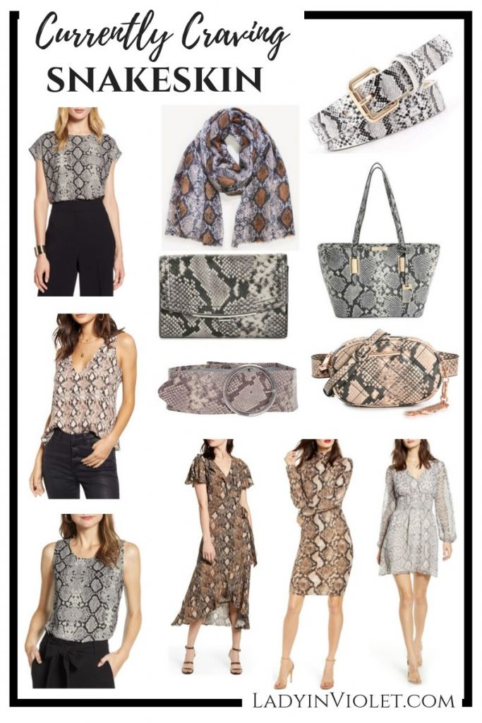 fall trends snakeskin print clothing and accessories | Affordable Fashion Blog Lady in Violet