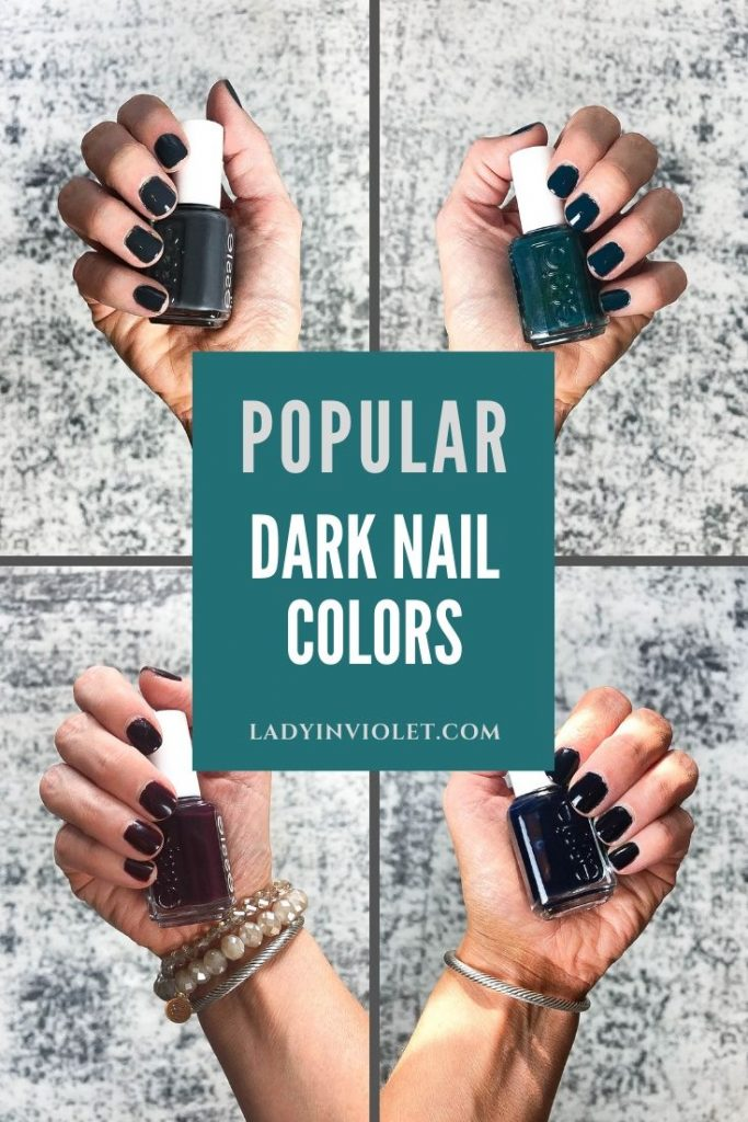 most popular dark nail colors for fall and winter | Beauty Blog Lady in Violet