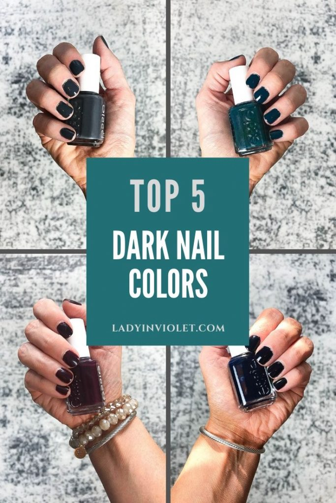 top 5 dark nail colors for fall | Beauty Blogger Lady in Violet