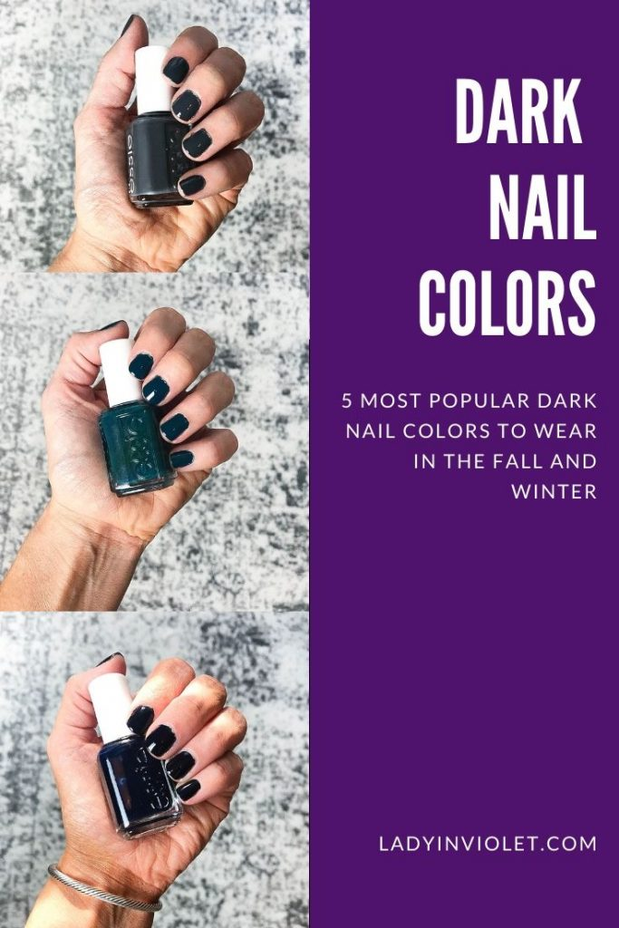 top dark nail colors to try this fall | Houston beauty blogger Lady in Violet