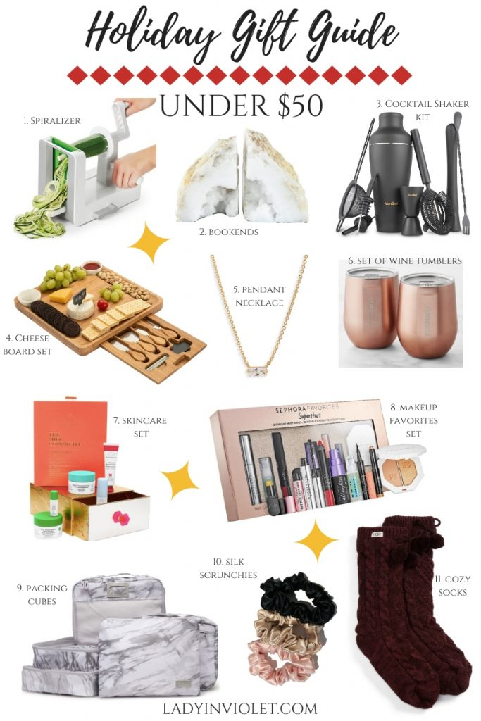 Christmas gift ideas under 50 dollars | Popular Gift Blog Lady in Violet