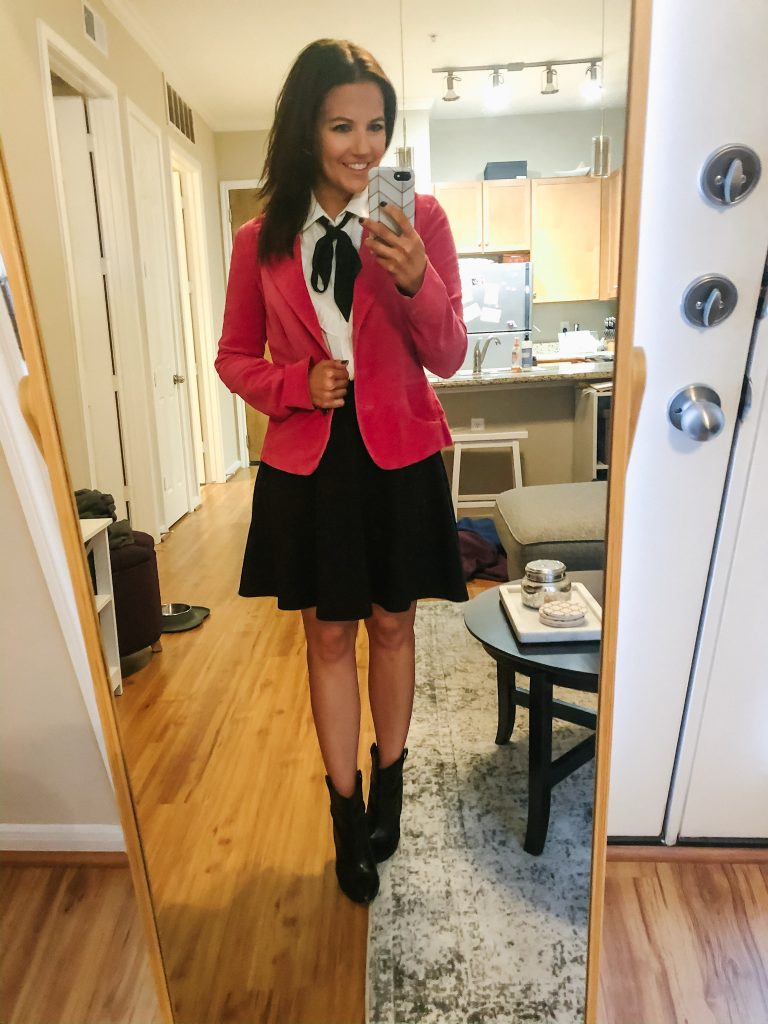 gossip girl inspired work outfit | pink velvet blazer | Southern Style Blog Lady in Violet